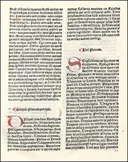 Marsilio Ficino translation of Plato